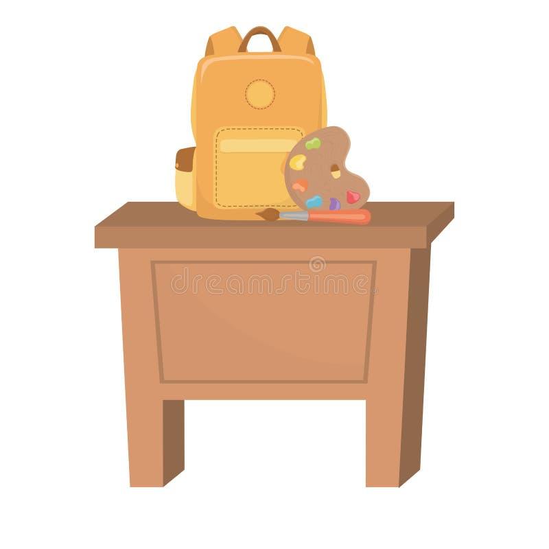 Progettazione dei rifornimenti di scuola e dello scrittorio illustrazione di stock