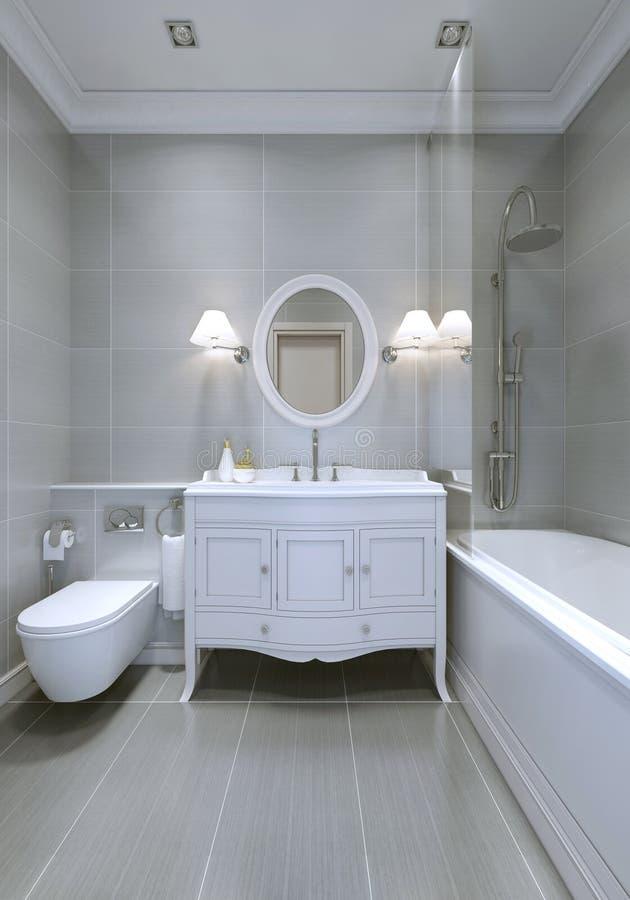 Progettazione del bagno classico fotografia stock