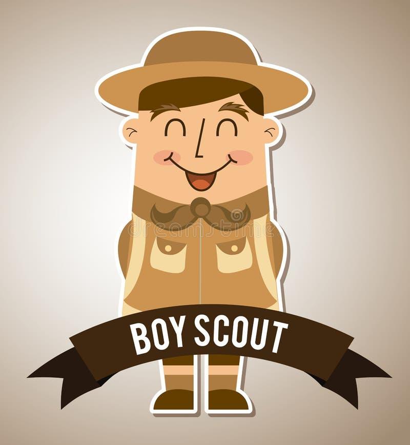 Progettazione del boy scout illustrazione vettoriale