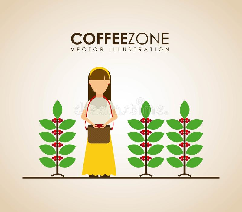 Progettazione del caffè illustrazione di stock