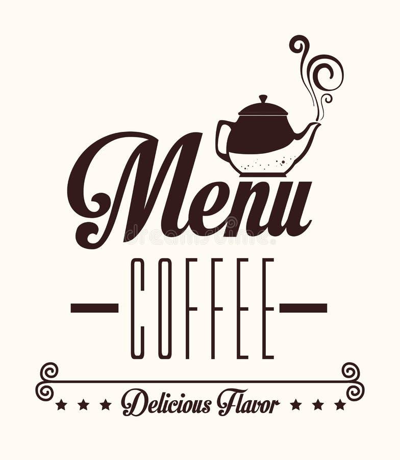 Progettazione del caffè, illustrazione di vettore illustrazione vettoriale