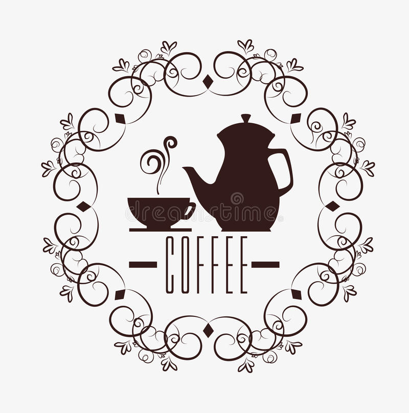 Progettazione del caffè, illustrazione di vettore illustrazione di stock