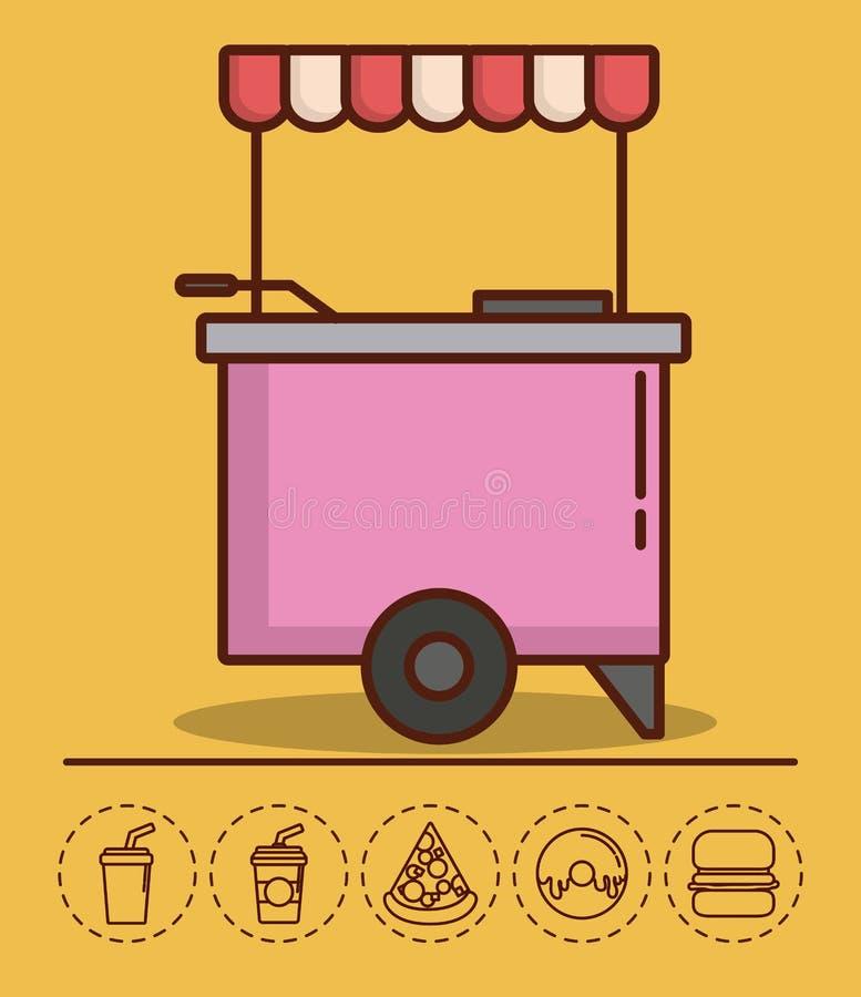 Progettazione del camion dell'alimento illustrazione vettoriale