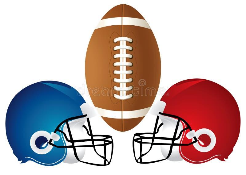 Progettazione del casco di calcio illustrazione vettoriale
