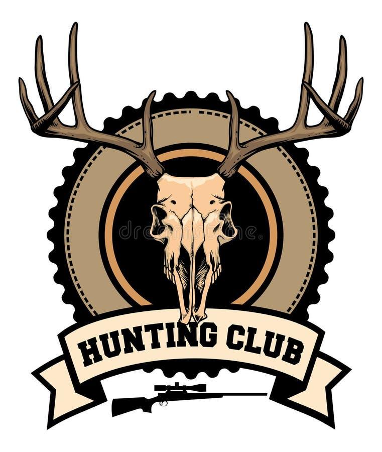 Progettazione del club di caccia royalty illustrazione gratis