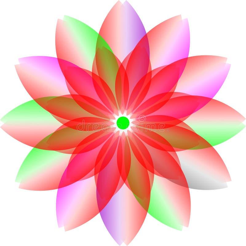 Progettazione del colourfull di logo, fiore della trasparenza fiore del fiore del colourfull illustrazione vettoriale