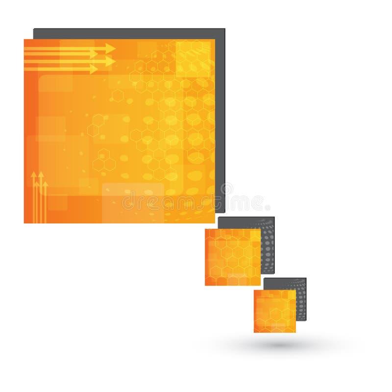 Progettazione del contenitore di bolla-testo di discorso di vettore fotografia stock