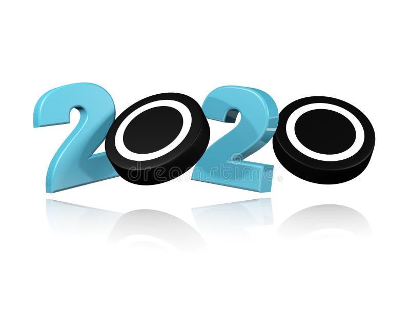 Progettazione del disco di hockey su ghiaccio 2020 illustrazione vettoriale
