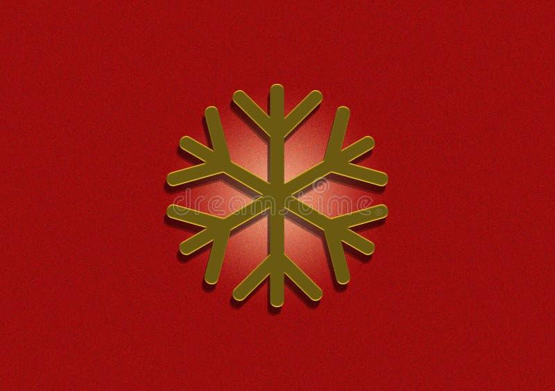 Progettazione del fiocco di neve di Dio su fondo rosso fotografie stock