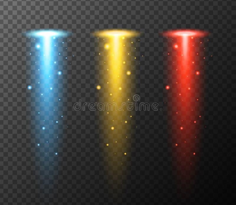 Progettazione del fondo con tre colori delle luci illustrazione vettoriale