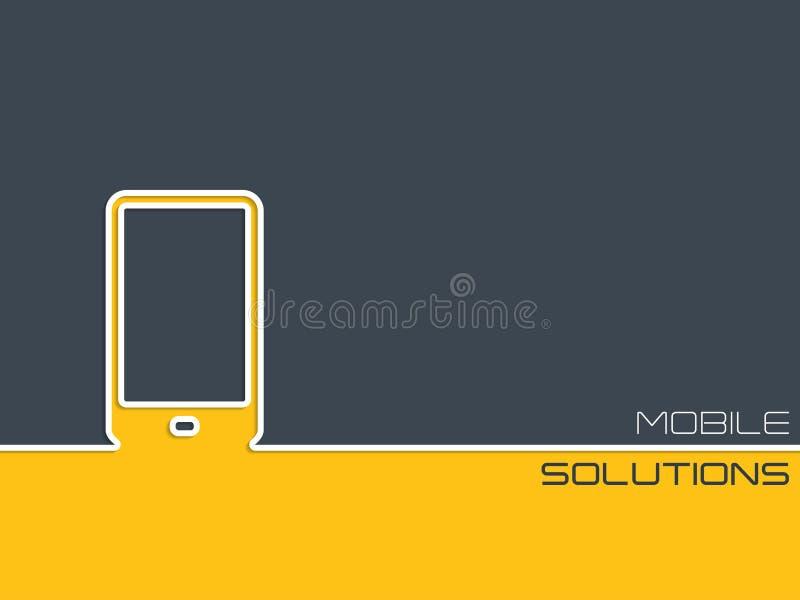 Progettazione del fondo di comunicazione su mezzi mobili royalty illustrazione gratis