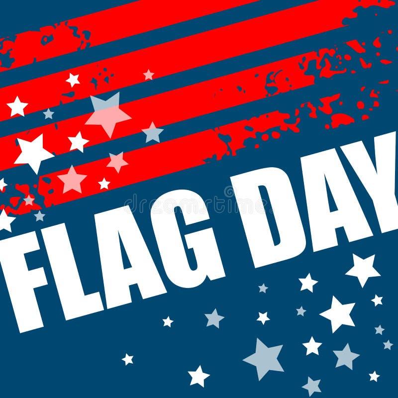 Progettazione del fondo di giorno di bandiera americana Illustrazione di vettore illustrazione vettoriale