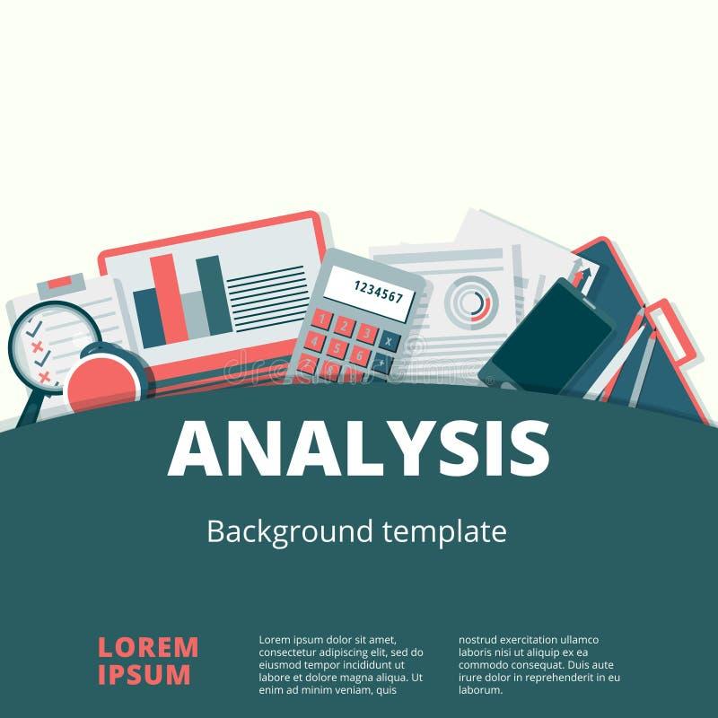 Progettazione del fondo di vettore di analisi finanziaria royalty illustrazione gratis