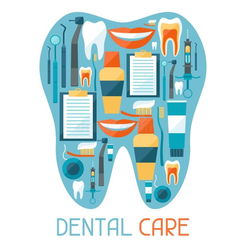 Progettazione del fondo medico con le icone dentarie royalty illustrazione gratis