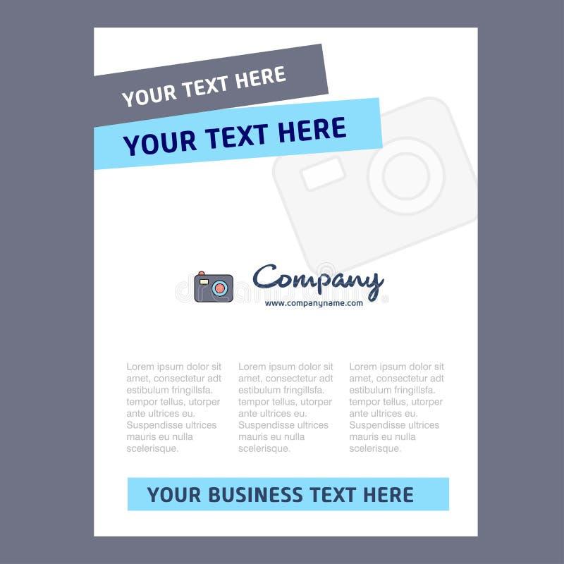 Progettazione del frontespizio della macchina fotografica per il profilo aziendale, rapporto annuale, presentazioni, opuscolo, fo illustrazione di stock