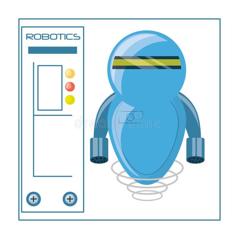 progettazione del fumetto del robot royalty illustrazione gratis