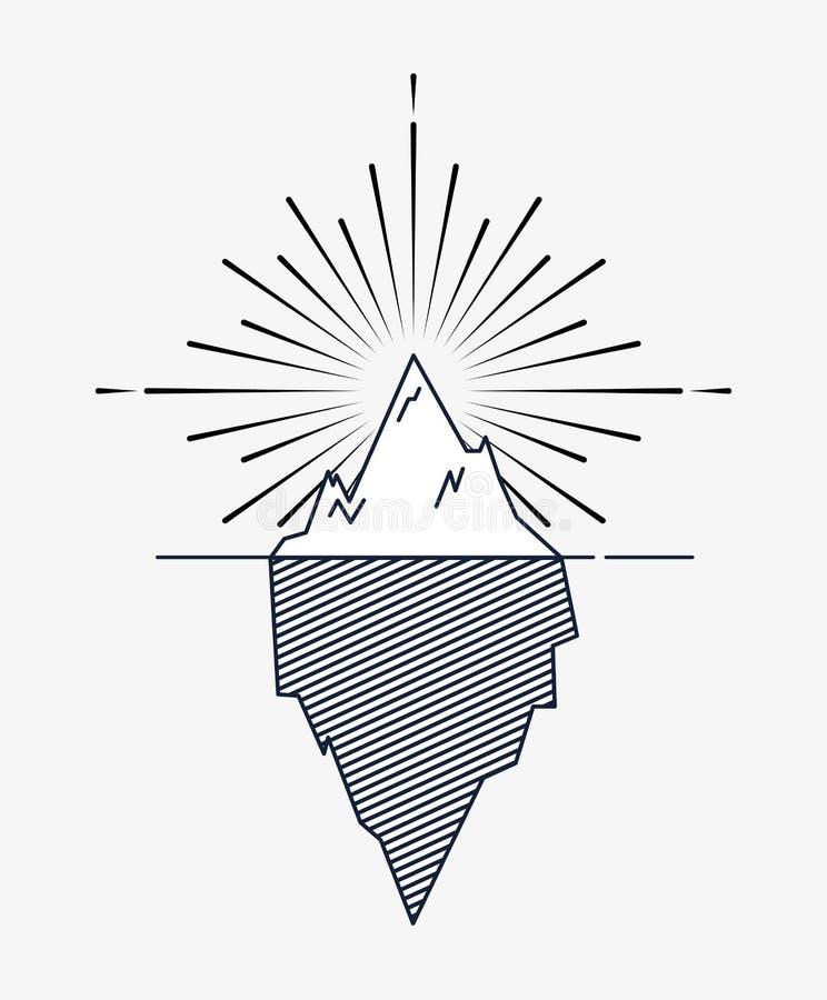 progettazione del ghiacciaio dell'iceberg royalty illustrazione gratis