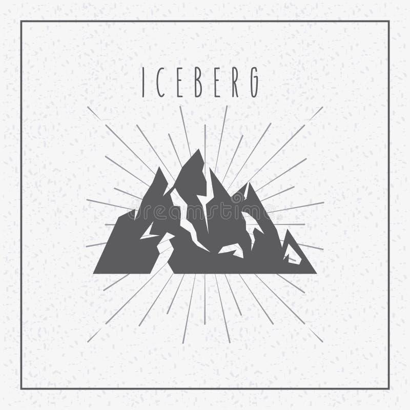 progettazione del ghiacciaio dell'iceberg illustrazione vettoriale