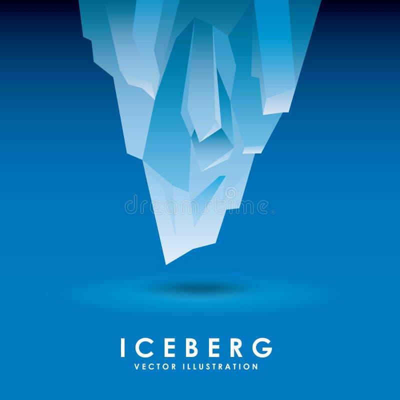 progettazione del ghiacciaio dell'iceberg illustrazione di stock