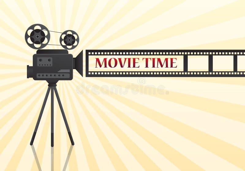 Progettazione del manifesto del cinema di film insegna del modello per la manifestazione royalty illustrazione gratis