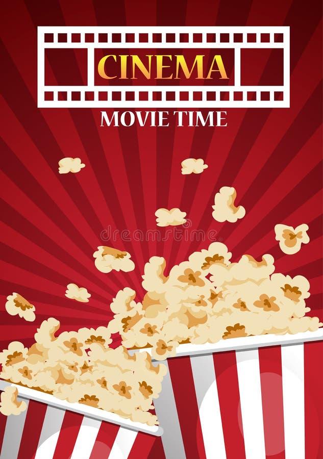 Progettazione del manifesto del cinema di film insegna del modello per la manifestazione con royalty illustrazione gratis