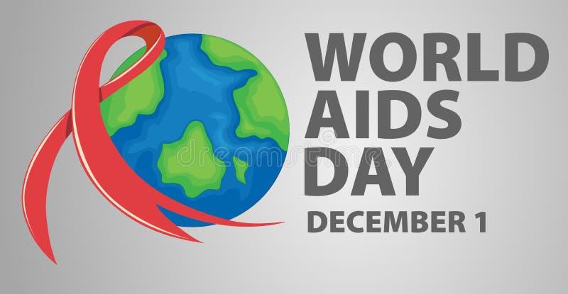 Progettazione del manifesto per la Giornata mondiale contro l'AIDS illustrazione vettoriale