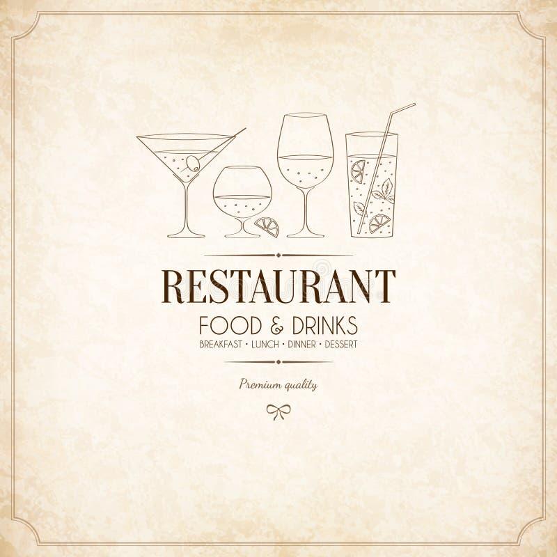Progettazione del menu del ristorante royalty illustrazione gratis