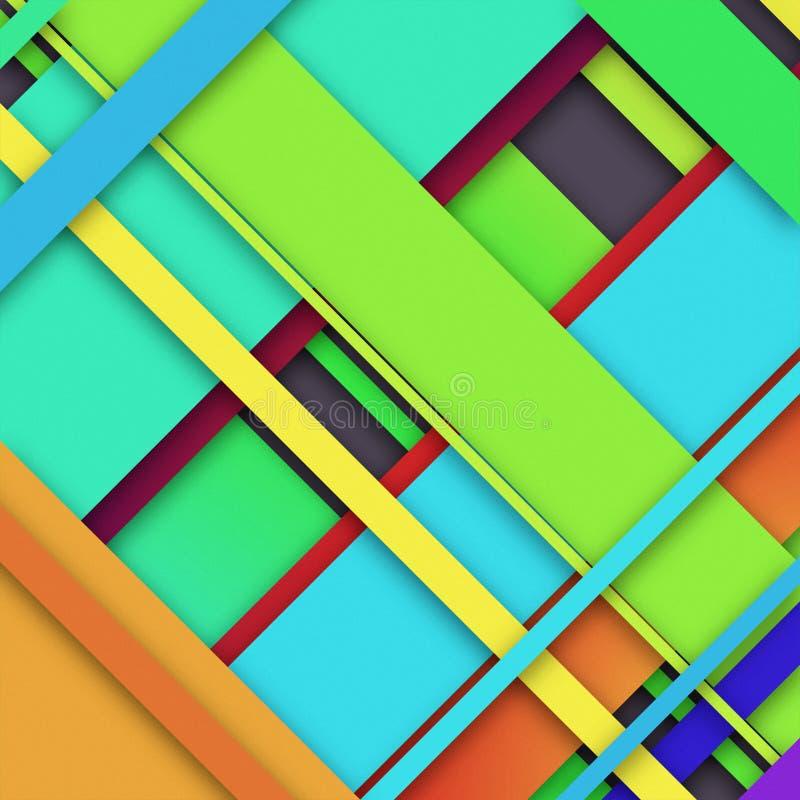 progettazione del modello con carta colorata fotografia stock libera da diritti