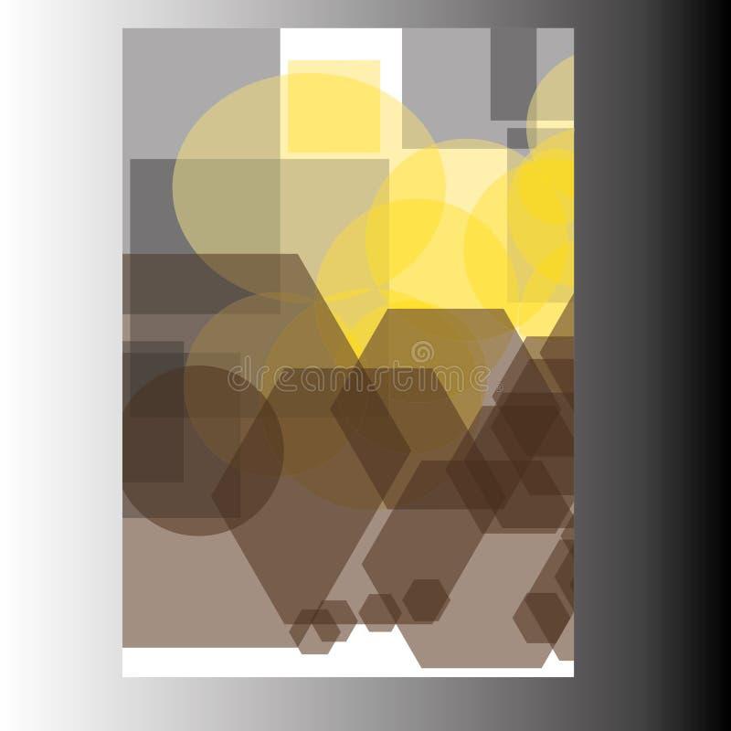 Progettazione del modello dell'aletta di filatoio dell'opuscolo dell'opuscolo del rapporto annuale immagine stock
