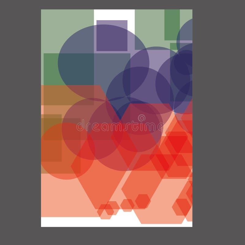 Progettazione del modello dell'aletta di filatoio dell'opuscolo dell'opuscolo del rapporto annuale immagini stock libere da diritti