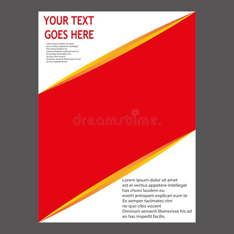 Progettazione del modello dell'aletta di filatoio dell'opuscolo dell'opuscolo del rapporto annuale fotografia stock libera da diritti