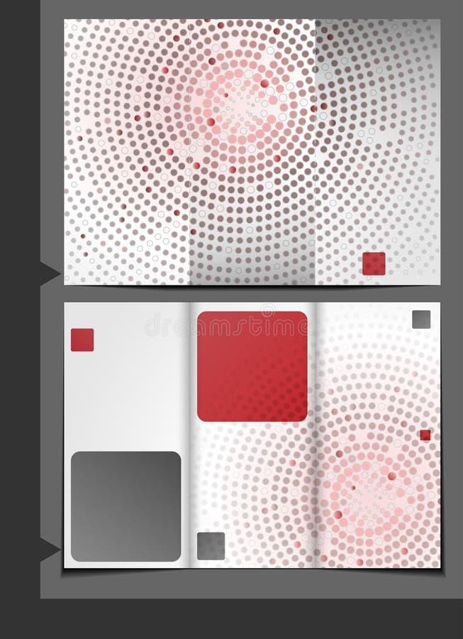 Progettazione del modello dell'opuscolo. illustrazione di stock