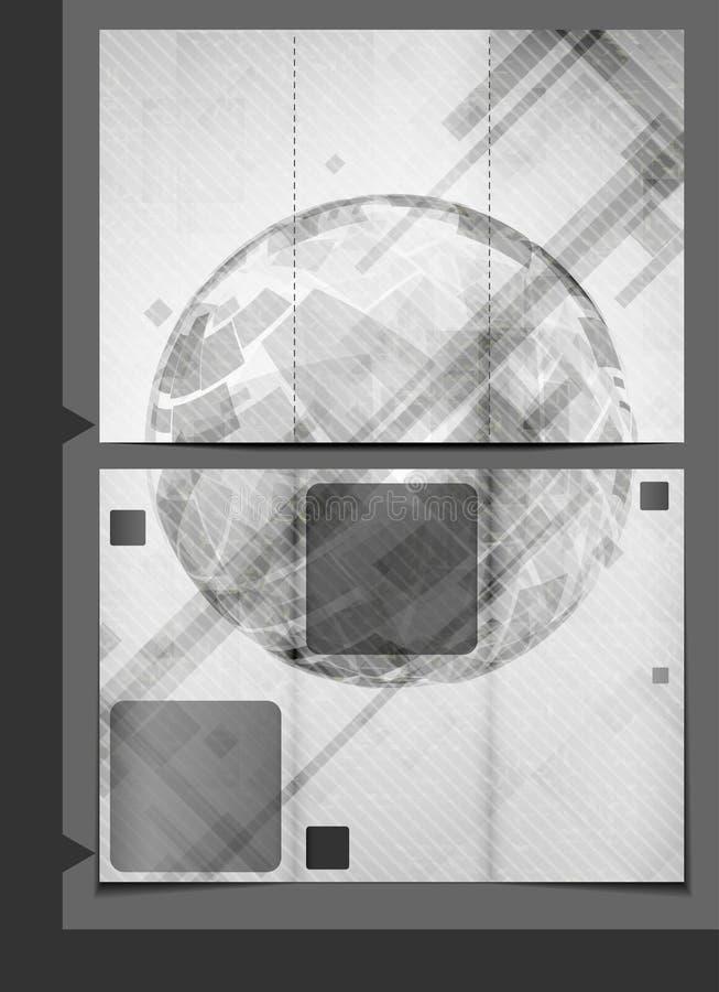 Progettazione del modello dell'opuscolo. royalty illustrazione gratis
