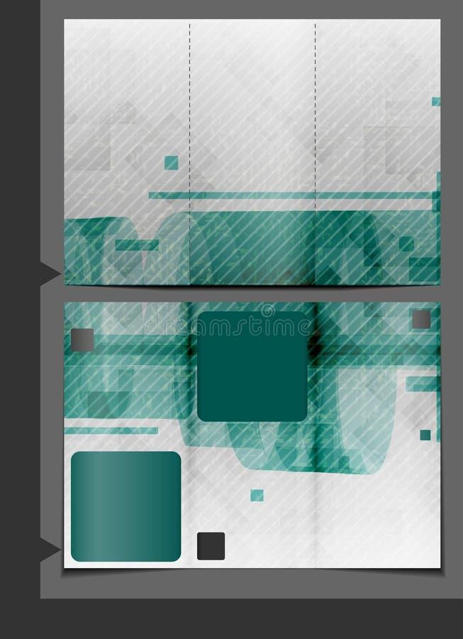 Progettazione del modello dell'opuscolo. illustrazione vettoriale