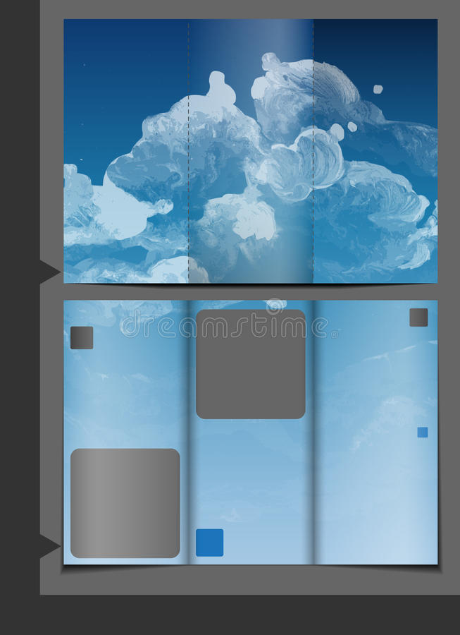Progettazione del modello dell'opuscolo illustrazione di stock