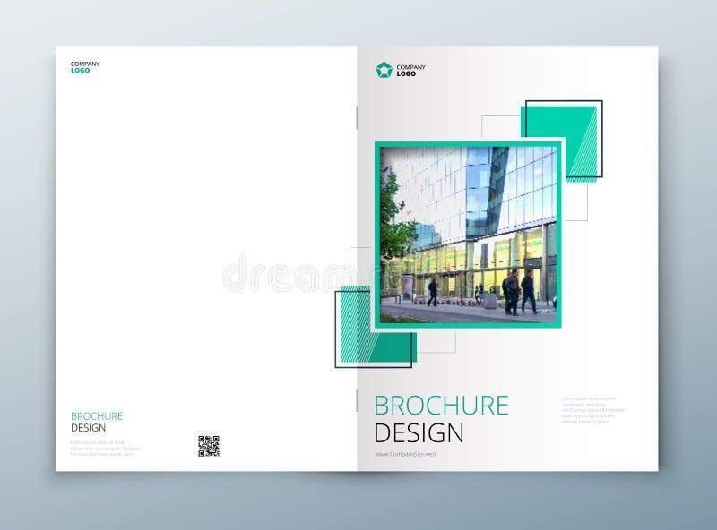 Progettazione del modello dell'opuscolo della copertura Blu scuro Rapporto annuale di affari corporativi, catalogo, rivista, mode illustrazione vettoriale