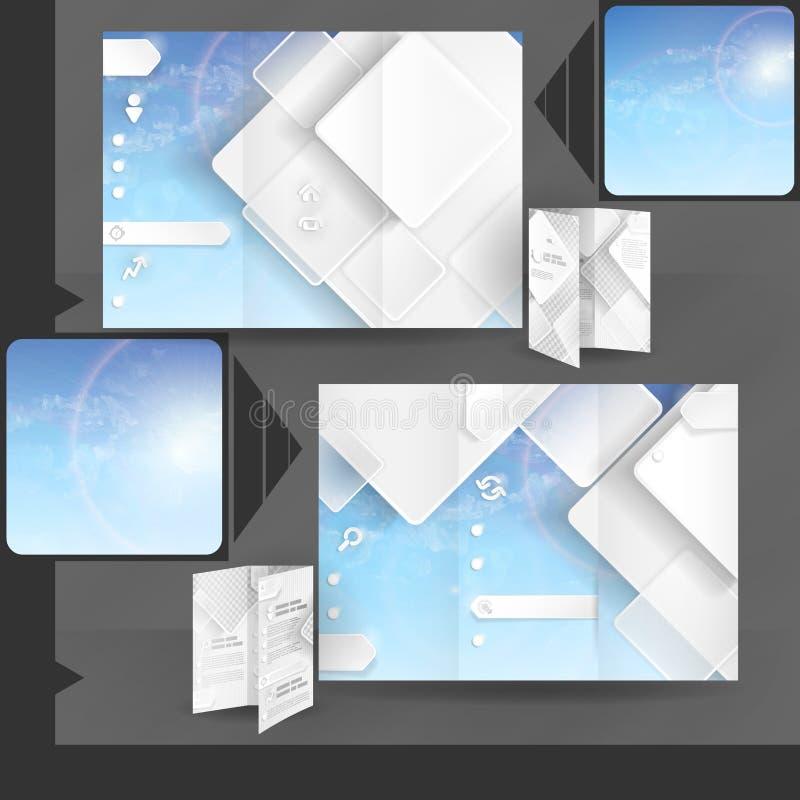 Progettazione del modello dell'opuscolo di affari illustrazione di stock