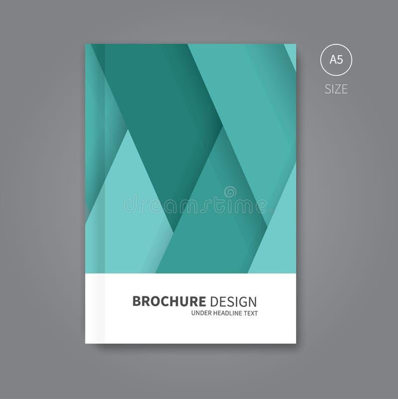 Progettazione del modello della copertina di libro di vettore illustrazione vettoriale