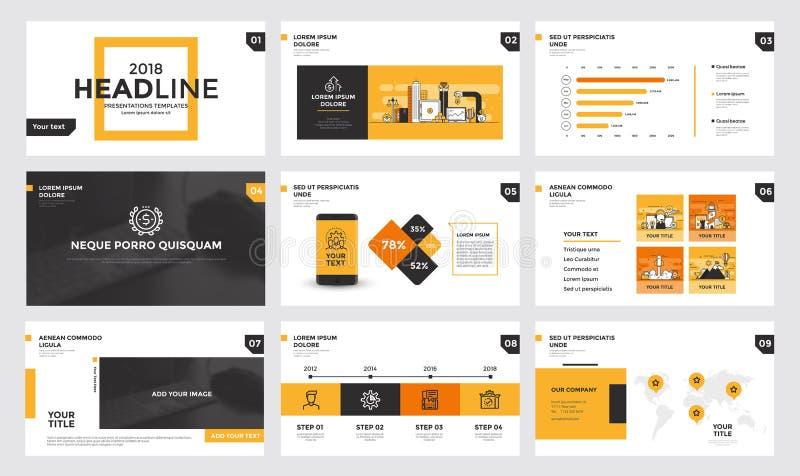 Progettazione del modello dello scorrevole di Infographics illustrazione di stock