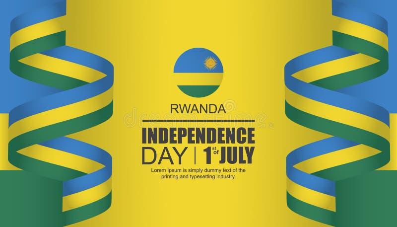Progettazione del modello di festa dell'indipendenza del Ruanda illustrazione di stock