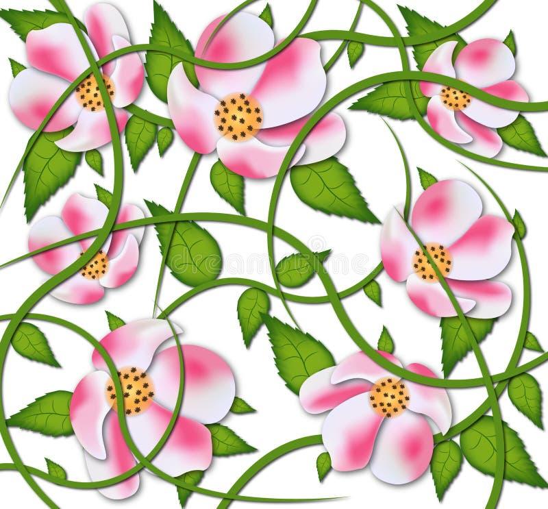 Progettazione del MODELLO di fiori di vettore fotografia stock
