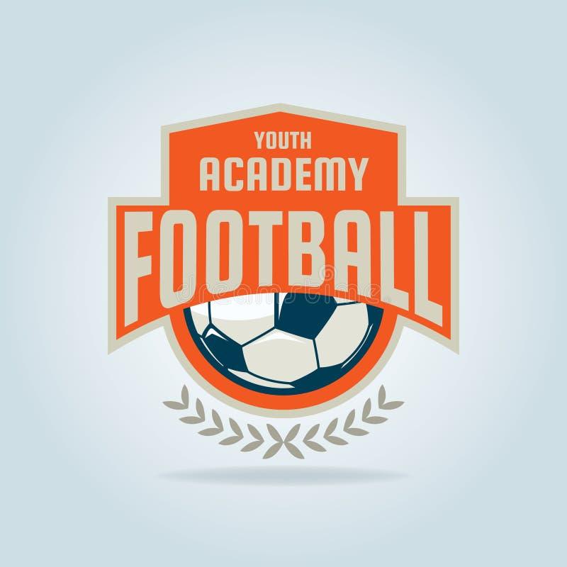 Progettazione del modello di logo del distintivo di calcio, squadra di calcio fotografia stock libera da diritti