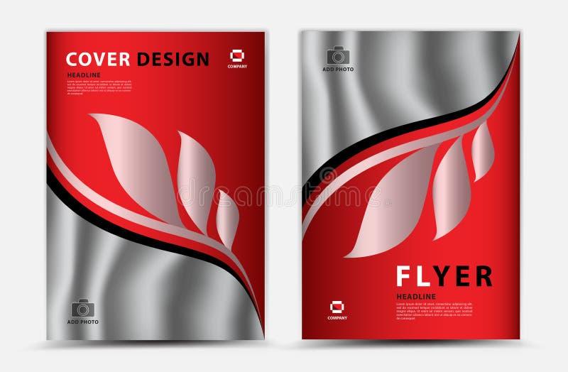 Progettazione del modello di vettore della copertura, aletta di filatoio dell'opuscolo di affari, rapporto annuale, annuncio di m illustrazione di stock