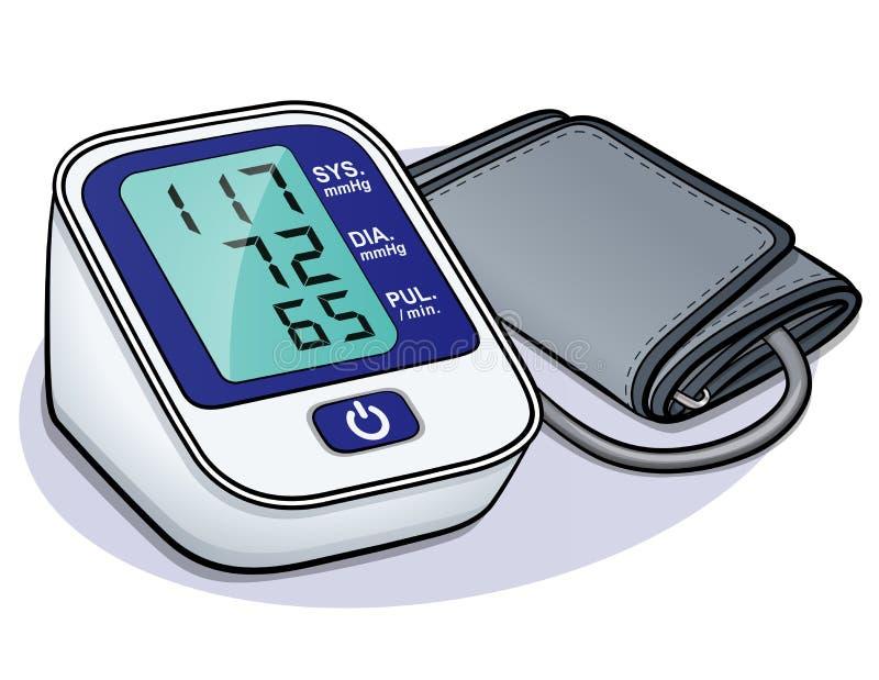 Progettazione del monitor di pressione sanguigna di vettore illustrazione di stock