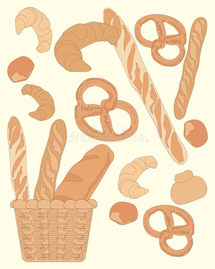 Progettazione del pane illustrazione di stock