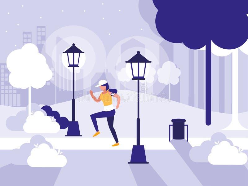 Progettazione del parco e della gente royalty illustrazione gratis