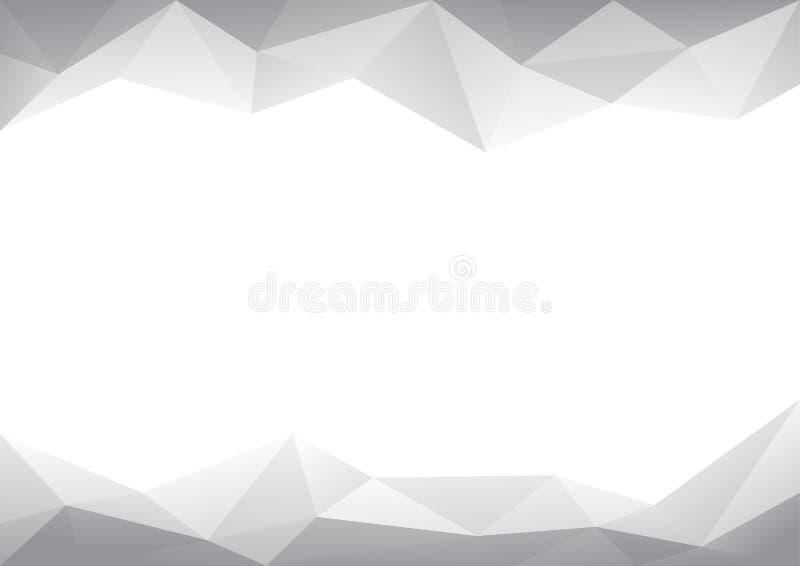 Progettazione del poligono dell'estratto del fondo di vettori illustrazione vettoriale