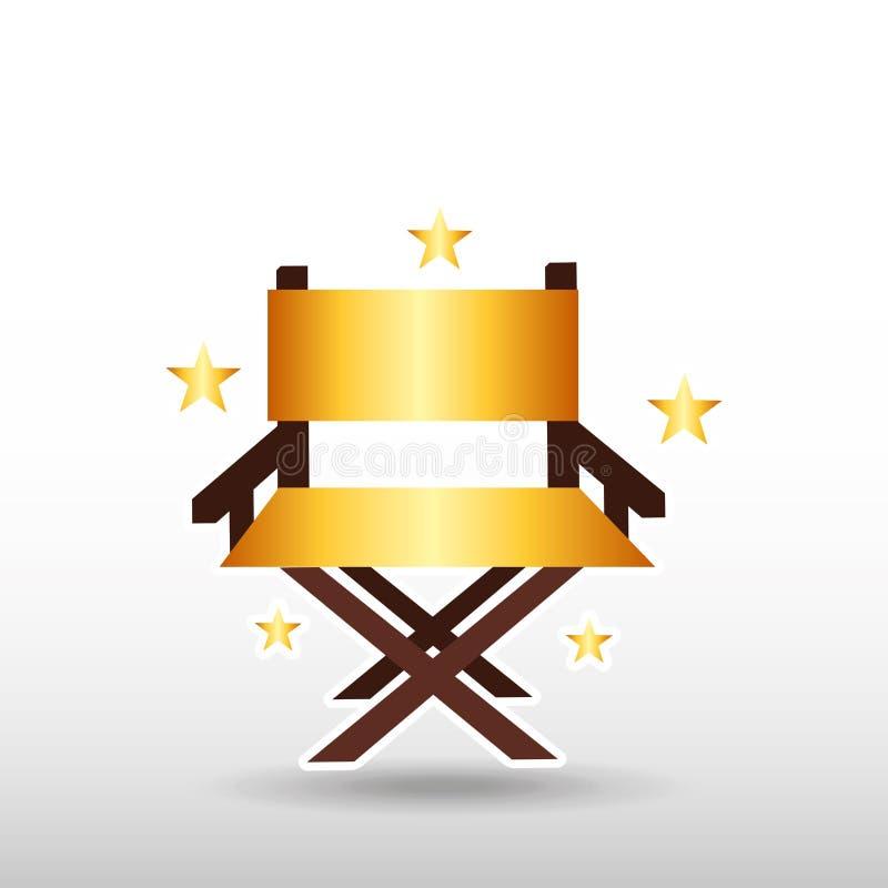 progettazione del premio del film illustrazione di stock