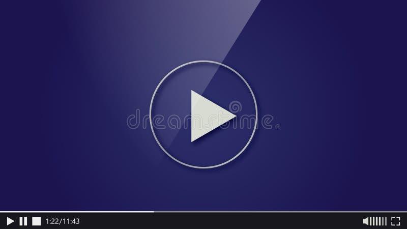 Progettazione del riproduttore video Barra del gioco di media di film dell'interfaccia royalty illustrazione gratis
