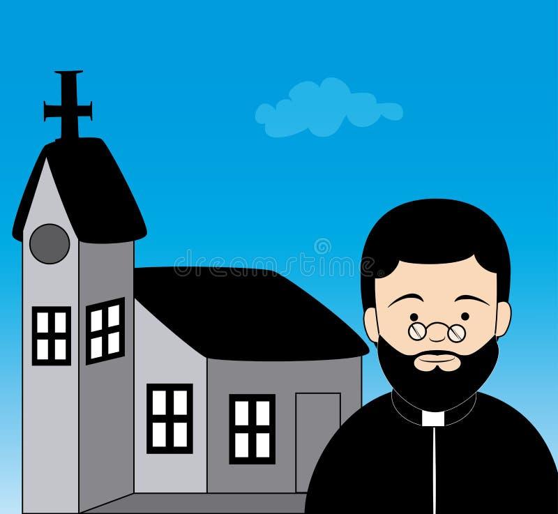 Progettazione del sacerdote illustrazione di stock